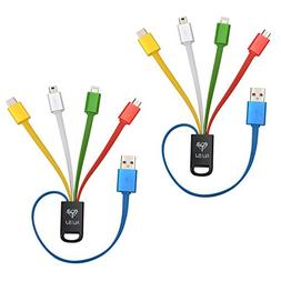 NJSJ 4 in 1 Multi USB Charging Cable  with 8 Pin Lightning