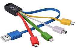 NJSJ 4 in 1 Multiple USB Cable  with 8 Pin Lightning / USB T