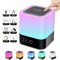 5 in 1 Portable Bluetooth Speakers Night lights Touch Sensor