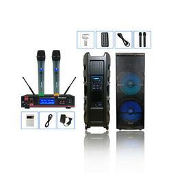 "STARAUDIO 10"" Portable 1500 Watt Active PA Battery DJ Blueto"