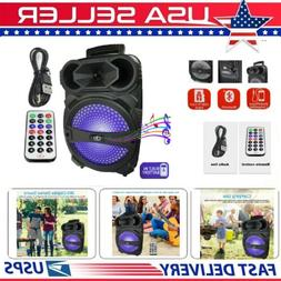 """1000W Portable BT Bluetooth Party Speaker 8"""" Subwoofer Heavy"""