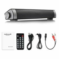10W Sound Bar Bluetooth 4.0 TV Soundbar Wireless Speaker Sub