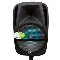 QFX 12-Inch LED Lighting Bluetooth Portable Speaker PBX-BF12
