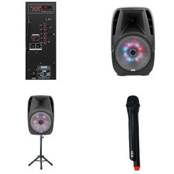 15 inch Portable Bluetooth Party Speaker With Stand & Wirele