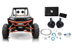 """2) Rockville 8"""" Tower Speakers+Bluetooth Amplifier+Remote AT"""