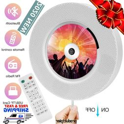 2020 Portable Bluetooth CD Player Wall Mounted Home Audio MP