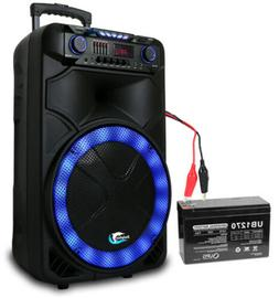 """Dolphin 3100W Rechargeable 15"""" Bluetooth Tailgate Speaker wi"""