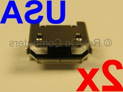 2x Micro USB Charging Charger Port for OontZ Angle Bluetooth