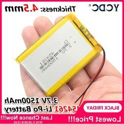 3.7V 1500mAh 454261 Lithium Polymer Li-Po li ion Rechargeabl