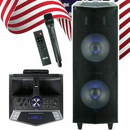 "EMB 3000 Watts Dual 12"" Rechargeable PA DJ Speaker / Bluetoo"
