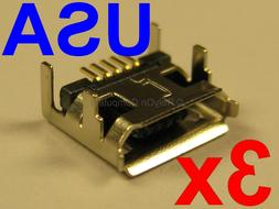 3x Micro USB Charging Port for Altec Lansing LifeJacket 2 Bl