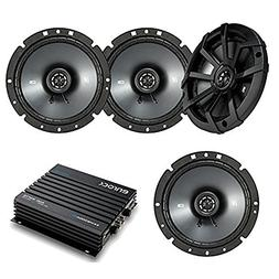 "4 Kicker 6.75"" 600W Black Car Coaxial Speakers,Marine Blueto"
