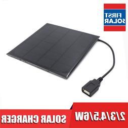 6VDC 2 3 4.5 6 W Watt Solar Panel <font><b>Charger</b></font