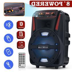 "8"" 1000W Portable FM Bluetooth Speaker Sound System DJ Party"