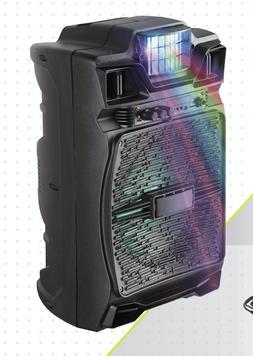 """8"""" Bluetooth 1500 Watts W DISCO LIGHT BUILT IN Karaoke Speak"""