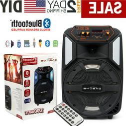 """8"""" BT Party Speaker System Bluetooth Big Led Portable Stereo"""