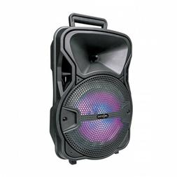 Axess 8-inch Subwoofer Bluetooth Portable Speaker with LED L