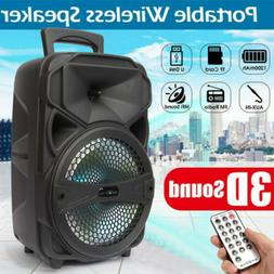 "8"" Party Bluetooth Speaker System Led Portable Loud up to 10"
