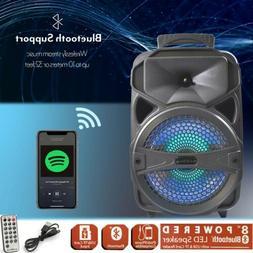 "8"" Portable FM Bluetooth Speaker Subwoofer 1000W Heavy Bass"