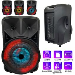8'' Portable FM Bluetooth Speaker Subwoofer Heavy Bass Sound