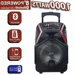"8"" Wireless Portable Party Bluetooth Speaker Heavy Bass Soun"