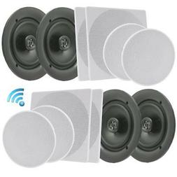 "Pyle 6.5"" 4 Bluetooth Flush Mount In-wall In-ceiling 2-Way"
