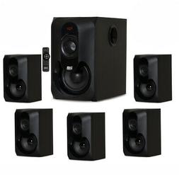 Acoustic Audio AA5301 Bluetooth Powered 5.1 Speaker System H