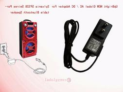 AC Adapter For Sylvania SP328 B Black Red Silver Portable Bl