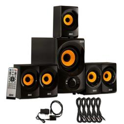 Acoustic Audio AA5170 Home 5.1 Bluetooth Speaker System with