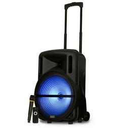 "Acoustic Audio Rechargeable 15"" Bluetooth Party Speaker w/ L"