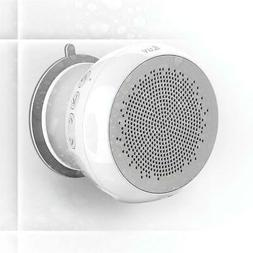 iLuv Aud Shower Bluetooth Speaker with Built-In Mic, White #