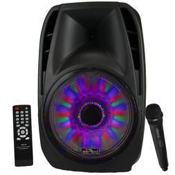 beFree 5000W Watt DJ PA Party Speaker with Mic Remote Lights