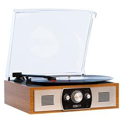 Altec Lansing Belt-Drive Stereo Turntable with Bluetooth, FM