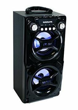 Sylvania Black Portable Hi-Fi Bluetooth Speaker w/ Treble/Ba