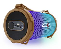 Axess Bluetooth Disco LED Lights 1.0Ch Rechargeable Speaker
