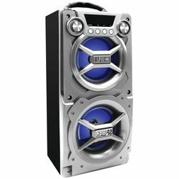NEW Bluetooth Sylvania LED Blue LIghts Portable Hi-Fi Speake