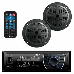 Marine Headunit Receiver Speaker Kit - In-Dash LCD Digital S