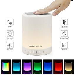 ELEPOWSTAR Night Light Bluetooth Speaker,Touch Sensor