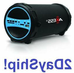 Bluetooth Portable Speaker Wireless Bass Stereo Black Pc Tab