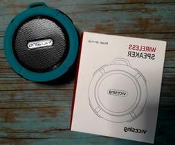 "VICTSING Bluetooth Speaker 3 1/2"" round Turquoise Teal Showe"
