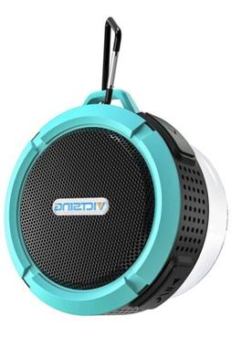 "VicTsing Bluetooth Speaker 3 1/2"" round Turquoise Teal C6 Wa"