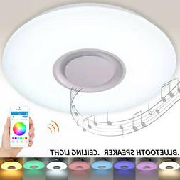 bluetooth Speaker LED in Ceiling Light Dimmable 36W Modern L