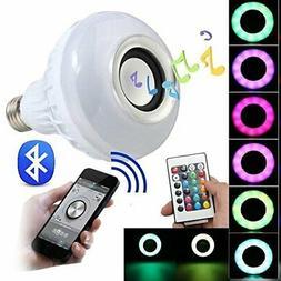 BFF Products Bluetooth Speaker Light Bulb Smart LED RGB Colo