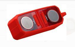 bluetooth stereo speaker red