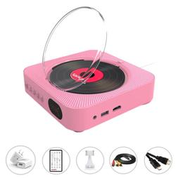 Bluetooth Wall Mountable Portable DVD Player &CD Player w/ D