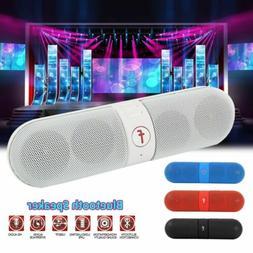 Bluetooth Wireless Pill Shaped Stereo Speaker w/ USB, TF Car