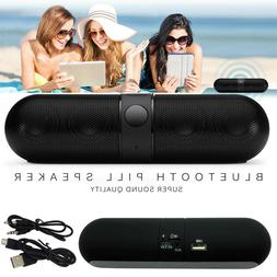 Bluetooth Wireless Speaker Mini Pill Super Bass Aux USB Ster