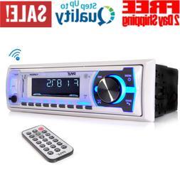 Boat Pyle Bluetooth Marine Stereo Receiver AM FM Radio Syste