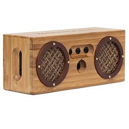 Bongo Bamboo Retro Bluetooth Speakers - Portable Wireless Ha