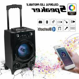 🔥BT Party Speaker System Bluetooth Big Led Portable Stere
